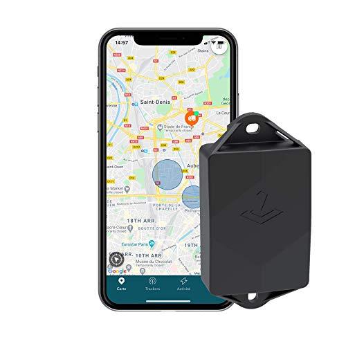Traceur GPS Compact (Autonomie 3 Ans) - sans Carte SIM - Scooter Moto Hors Bord - Aucun Câblage - Etanche - Résistant Aux Chocs - Abonnement Inclus - 95g