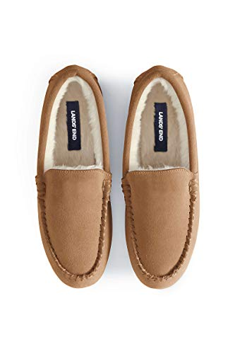 Lands' End Women's Suede Moccasin Slippers
