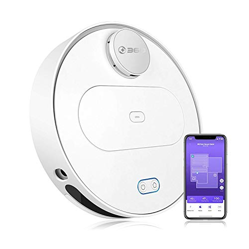 360 Robot Vacuum and Mop Cleaner, Compatible with Alexa, Intelligent Cleaning with 1800Pa Super...