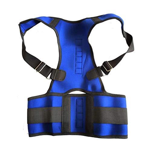 AWEDE Mujeres Corrector Corrector Back-Support Vendaje Hombro Corsé Atrás Soporte Postura Corrección Cinturón (Color : Blue, Size : Large-XL)