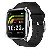 Relojes Inteligentes Smartwatch Hombre Mujer 18 Modos Deporte Monitor de Sueño,Oxígeno de Sangre,Presión Calorías Pulsómetro Podómetro IP68 Controlador de Música Monitoreo Actividad para Android iOS
