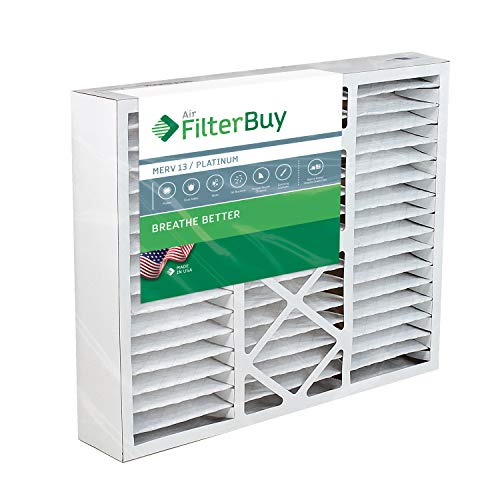 FilterBuy 20x25x5 Honeywell FC100A1037 Compatible Pleated AC Furnace Air Filters (MERV 13, AFB Platinum). Replaces Honeywell 203720, FC35A1027, FC100A1037, FC200E1037, Carrier FILXXCAR-0020. 1 Pack.