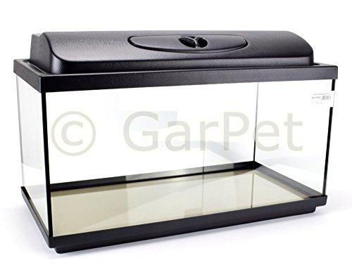 GarPet Aquarium Komplett Set rechteckig mit LED Abdeckung Filter Heizer Aquariumset (60x30x30 Set LED)