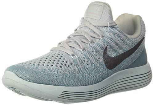 NIKE Womens Lunarepic Low Flyknit 2 Running Shoe (10.5, Glacier Blue/Metallic Silver)