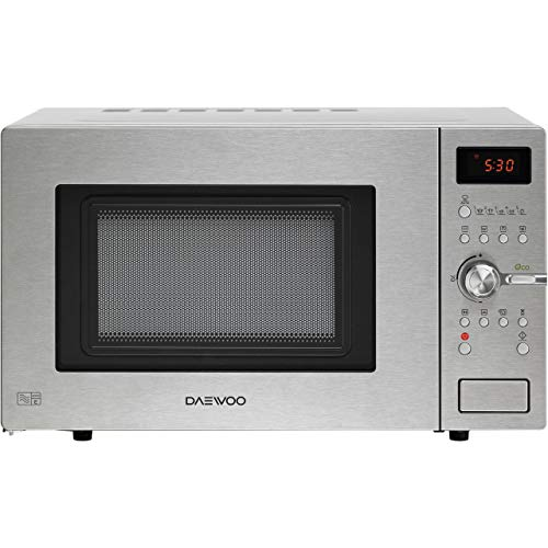 Daewoo Microwave Convect Oven with Grill, Easy Steam Cleaning with Stainless Steel Interior, 900 W, 28 Litre, Silver