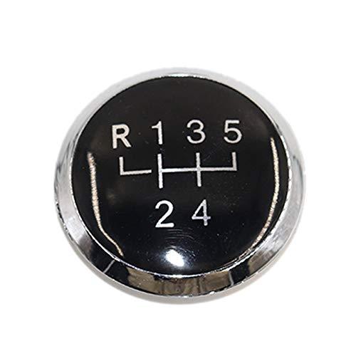 mlzaq 5/6 Speed Gear Shift KNOB Badge Emblem Cap Cover Repuesto para VW/Transporter para T5 T5.1 GP 2003-2011 (Color : 5 Speed Black)