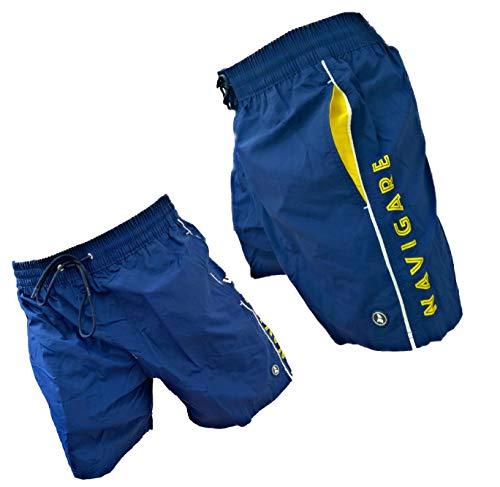 Navigare Boxer Mare Costume Uomo Pantaloncini da Bagno Swim Short Anche in Taglie conformate (Blu 23-98370, 4XL)