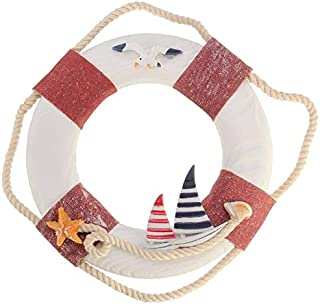 Chamomile. Wind Chimes & Hanging Decorations - KiWarm 1pc Nautical Mediterranean Family Adorment Life Buoy Crafts Room Decor Life Ring Nautical Home Wall Hanging Decoration 1 PCs