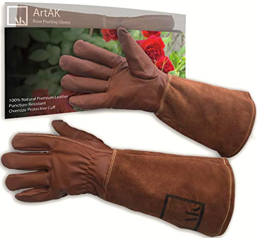 """Leather Rose Pruning Gloves Gardening Thorn Proof Ladies and Men Rose Gloves 
