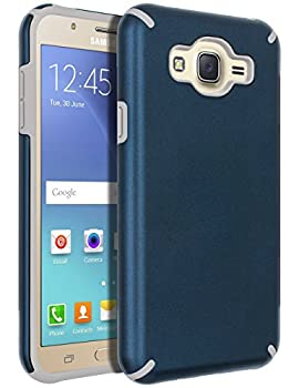 Galaxy J7  2015  Case,Galaxy J7 Case,SENON Slim-fit Shockproof Anti-Scratch Anti-Fingerprint Protective Case Cover For Samsung Galaxy J7 Neo J700 Blue