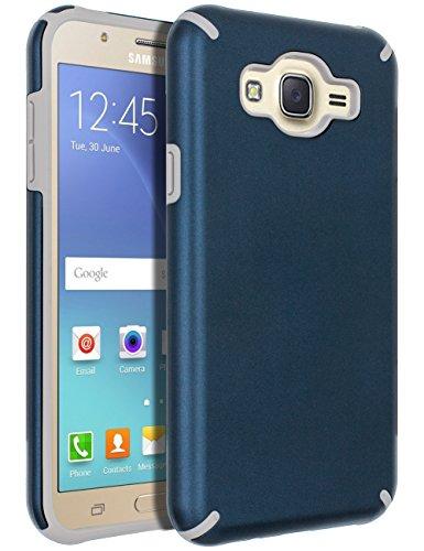 Galaxy J7 (2015) Case,Galaxy J7 Case,SENON Slim-fit Shockproof Anti-Scratch Anti-Fingerprint Protective Case Cover For Samsung Galaxy J7 Neo J700, Blue