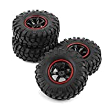 Voluxe RC Crawler Tire, RC Accessories RC Tire, Inner Sponge Wheel 1:10 RC Crawler Rubber Tires RC Tyre for Rc Toy HSP