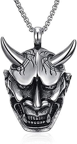 Hombres s Vintage gótico Collares Pendientes de Acero Inoxidable Plata Negro Hell Punk Biker Collar Cadenas