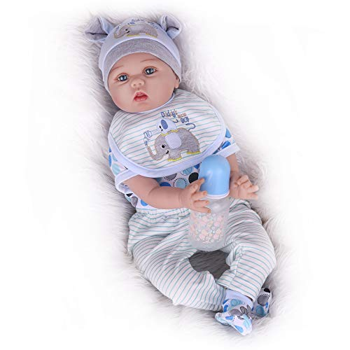 Kaydora Reborn Baby Dolls, Realistic Baby Reborn Dolls That Look Real, 22inch Handmade Soft Vinyl Weighted Body Lifelike Baby Dolls for Boy Age 3+