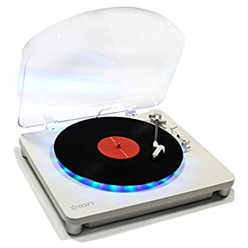 ION Audio Photon LP | 3-Speed Lighted Turntable with Multi-Color LEDs USB Conversion and Diamond-Tipped Stylus