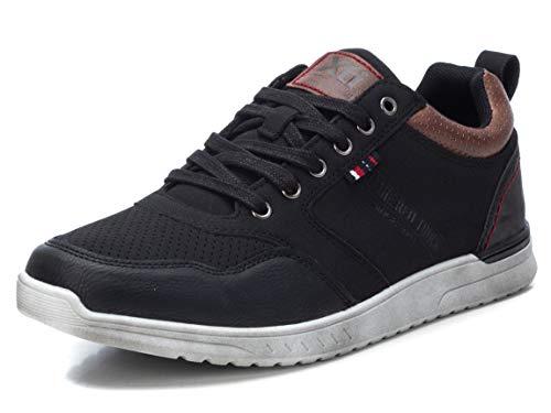 XTI - Zapatilla para Hombre - Cierre con Cordones - Color Negro - Talla 42