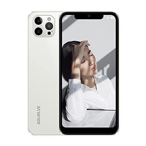 Moviles Libres Baratos 4G(2021), 3GB RAM+32GB ROM Android 9.0 Smartphone Libre, Pantalla 6,3 Pulgadas, 4350mAh Dual SIM Smartphone Teléfono,8MP+ 5MP, Face ID, Móviles y Smartphones Libres (Blanco)