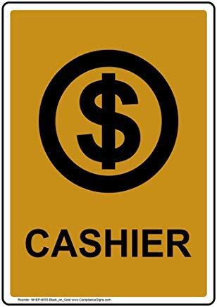 Vertikales Kassenschild, lustiges Wanring Schild, Torschild, Hence Yard Schild, 20,3 x 30,5 cm mit englischem Text und Symbol, Schwarz auf Gold
