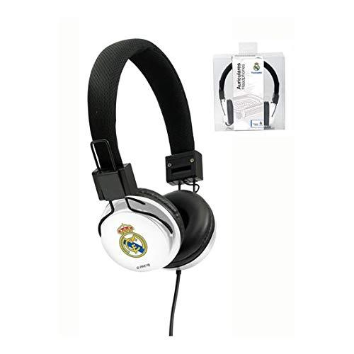 Seva Import Real Madrid Auriculares Casco, Blanco, Talla Única