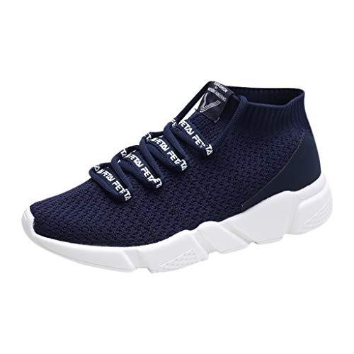 Dasongff Sportschoenen voor heren, zwart, hardloopschoenen voor heren, hoge sneaker, ademend, ultralicht