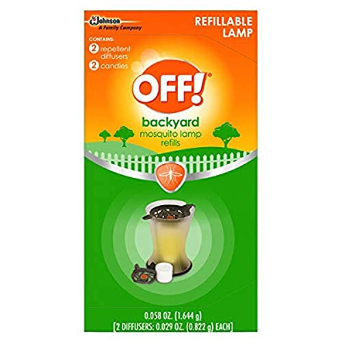 OFF! Backyard Mosquito Repellent Lamp Refill, Contains Two Diffusers and Two Candles