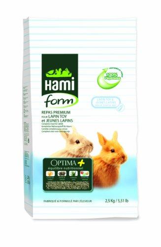 Repas Premium Optima pour Lapin toy et jeune Lapin, 2,5 kg. - HAMIFORM