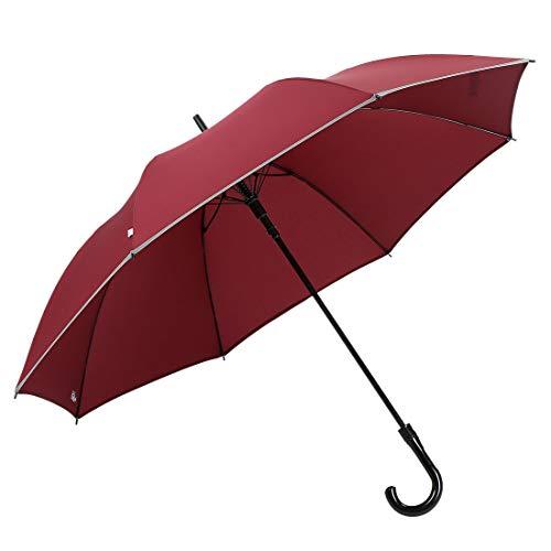 Just4U Auto Open Umbrella with Finest Handle 16 Ribs (Multicolour, 30 Inches)