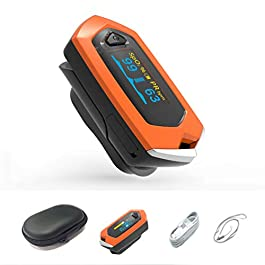 Rechargeable Pulse Oximeters Blood Saturation with OLED Display for Outdoor Sports Fitness Aviation