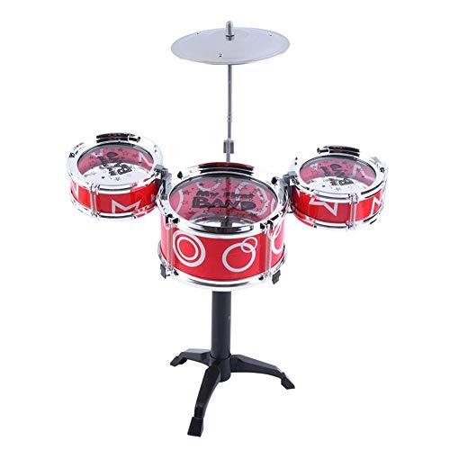 CDKJ niños del Juego de batería de Juguete Mini simulación de Juego de batería Jazz Band Instrumento Musical Jugar Color de Juguete de Color al Azar