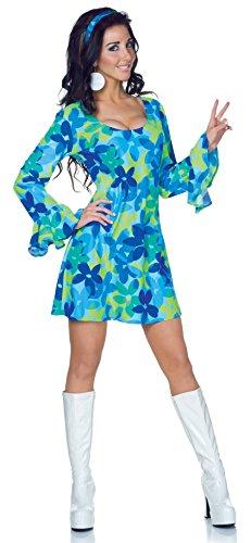 Underwraps Women's Retro Hippie Costume-Wild Flower, Blue/Green, X-Large
