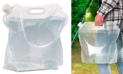 Semptec Urban Survival Technology Kanister: Flach Faltbarer Wasserkanister mit Tragegriff, 10 Liter, BPA-frei (Faltbarer Wasserkanister Camping)