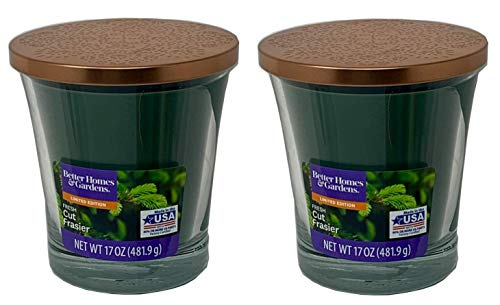 top 10 better homes and gardens candles Better Homes Gardens Scented Candles 17oz, 2 Pairs of Fresh Cut Fraser