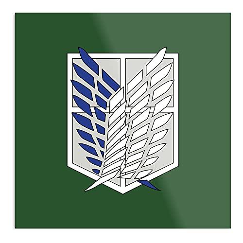 Póster decorativo de pared con logo de Titan Scout Regiment en Green Design & Art Print
