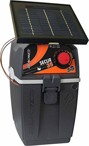 Weidezaun Batteriegerät mit Solarmodul, Lacme Secur 35 Solar 2W, 9V-12V, 0,32 J