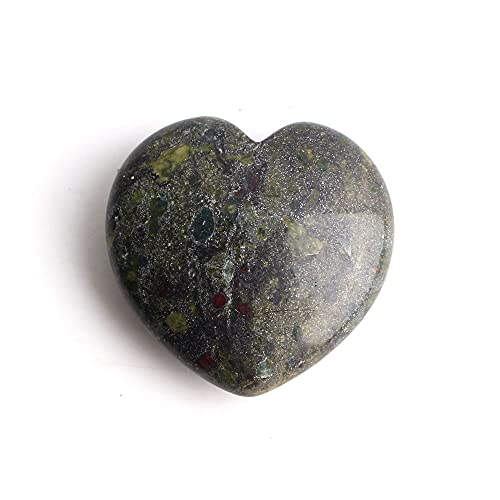 1 Pieza Colgante de Forma de corazón de Cristal Natural Amatista / Collar de Piedras Preciosas de fluoritaRegalo, Sangre de dragón de 3 cm
