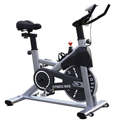 HAPICHIL Exercise Bike Indoor Cycling Stationary Bike, Magnetic Resistance Exercise Bikes with 35lbs Flywheel, LCD Monitor, Tablet Holder & Comfortable Seat Cushion for Home Workout Cardio Training