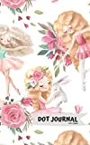 Dot Journal: Cute Little Ballerinas with Woodland Animals, Dot Grid Paper, 150 pages (8' x 5')