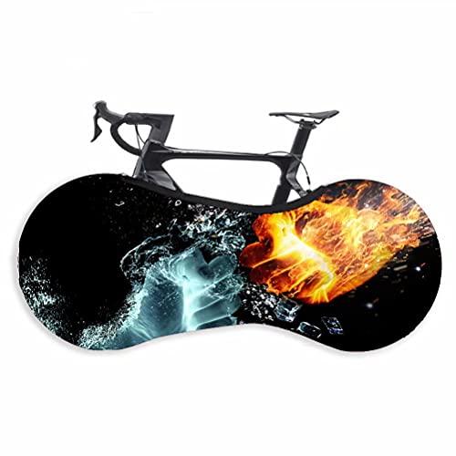 HGTRH Funda para Bicicleta, Elástica Lavable Antiarañazos Plegable, Tela Elástica a Prueba de Suciedad, Bolsa de Almacenamiento para Bicicletas de Montaña Antipolvo