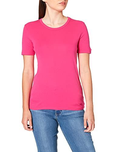 United Colors of Benetton T-Shirt 3GA2E16A0 Camiseta, Fucsia 3l5, M para Mujer