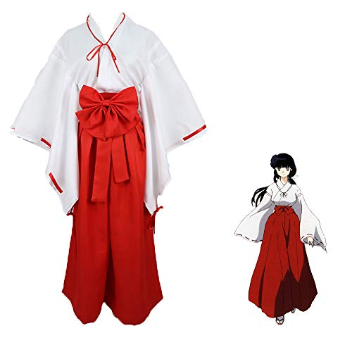 Wangjia Inuyasha Cosplay Costume, Kikyou Cosplay Kimono Suits Japanese Anime Roles Witch Costume Cosplay para Halloween, Navidad, Fiestas de Disfraces