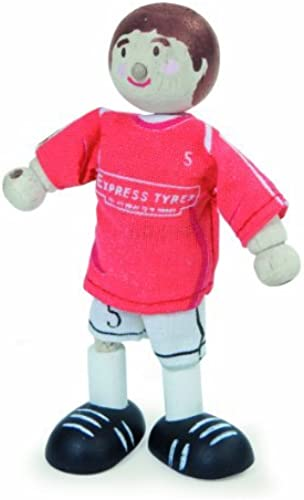 Budkins Soccer Player Footballer  5 Toy Figure, rot by Budkins