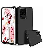 CRABOT Compatible con Huawei P40 Pro Plus Silicona Líquida Caso Cubierta de Goma Anti-caída Resistente a Los Arañazos Carcasa del Teléfono+1*(Protector de Pantalla Gratuito)-Negro