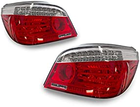 DEPO 2004-2010 BMW E60 5 Series Facelift Style Red/Clear LED Tail Light Set
