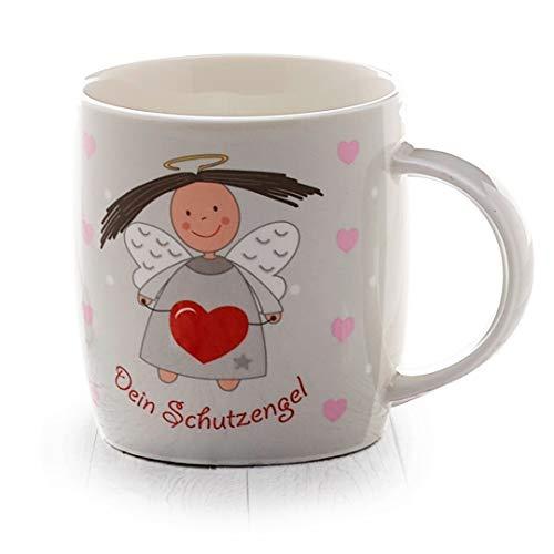 Heaven and Angels heavenandangels - Taza de ángel de la guarda (tierno gris) – Idea de regalo de heavenandangels – Ángel de la suerte, ángel de la guarda, taza de café, té, taza de café