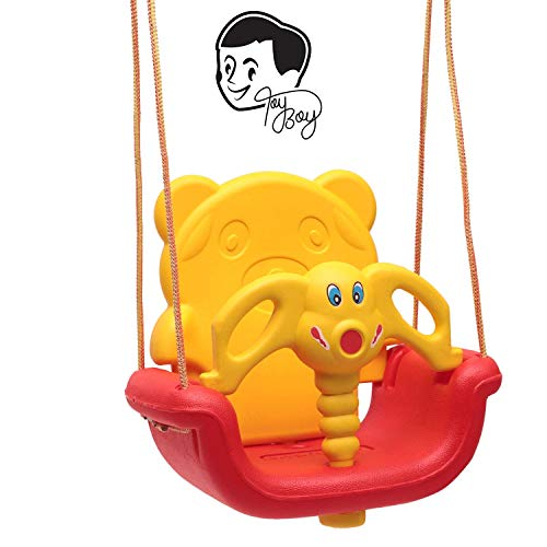 Toyboy 3-in-1 Indoor and Outdoor Adjustable Baby Swing/Jhula for Age 6 Months to 6 Years - Colour/Character May Vary