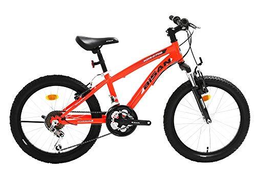 20 Zoll Kinder Jungen Mädchen Fahrrad Kinderfahrrad MTB Mountainbike Fahrrad Rad Bike Federgabel Gabelfederung 15 Gang Beleuchtung KDS 2750 ORANGE