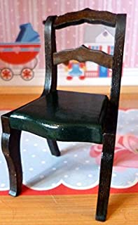 Tynietoy New Vintage Green Painted Victorian Chair Dollhouse Miniature 1/12 Scale