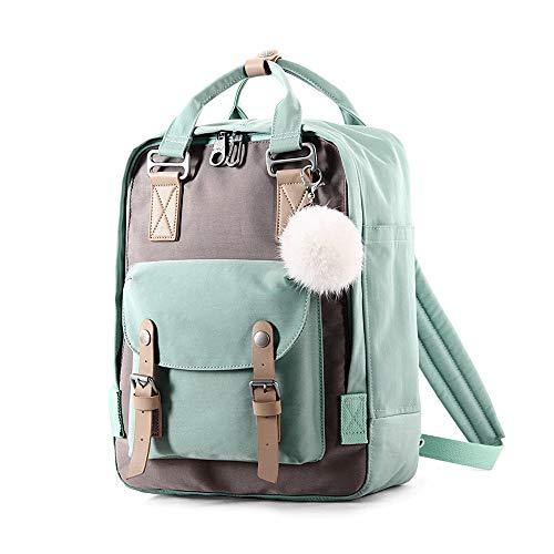 MMPY Rucksack mit großer Kapazität Mode Rucksack Rucksack Reisesportrucksack Rucksack (Farbe : Mint Green)