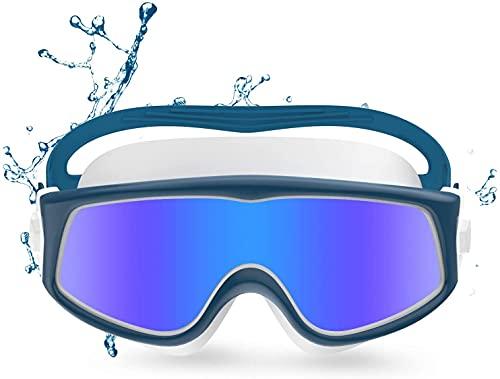 Dakecy Gafas De Natación, Gafas De Natación para Adultos Antivaho Sin Fugas Visión Clara Protección UV, Gafas De Natación con Visión Panorámica HD, para Hombres Y Mujeres (Color : Blue)