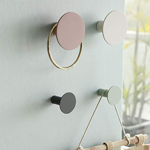 E.Palace 4-Piece Wall Hooks- Decorative Wall Mounted Coat Hooks for Hanging Coats, Scarves, Bags, Towels and More. (Marble) (Multi Color Hooks)